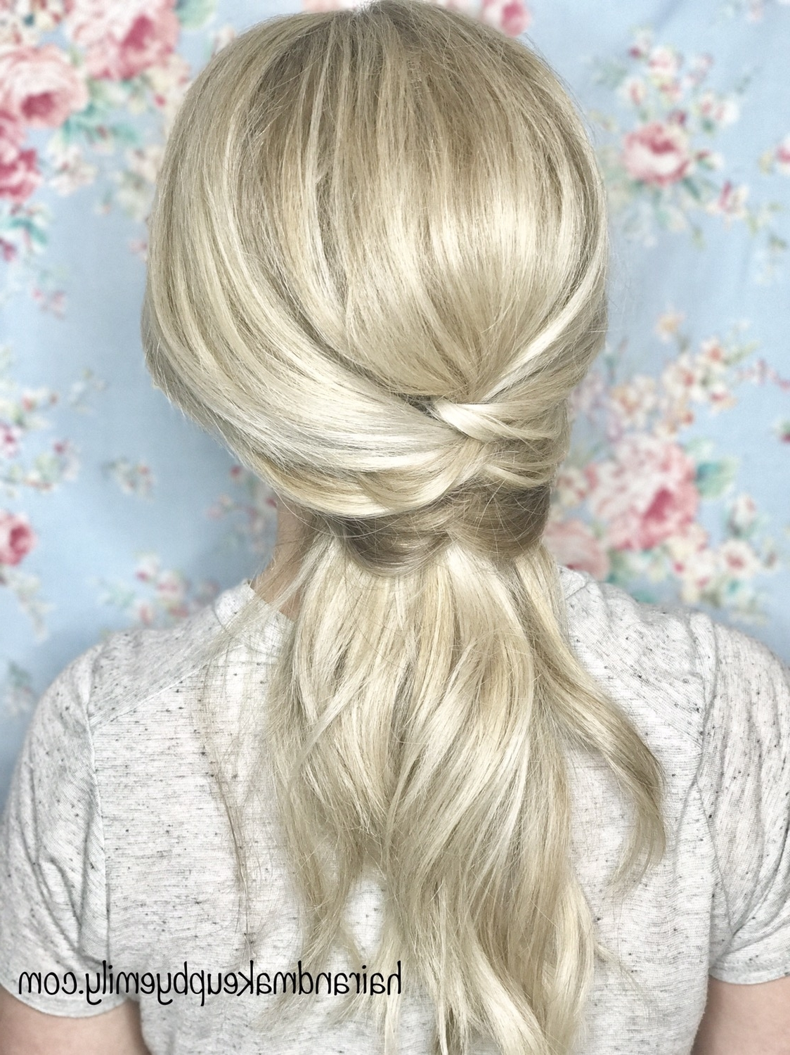 Criss Cross Ponytail – Emily Holland With Fashionable The Criss Cross Ponytail Hairstyles (View 7 of 20)
