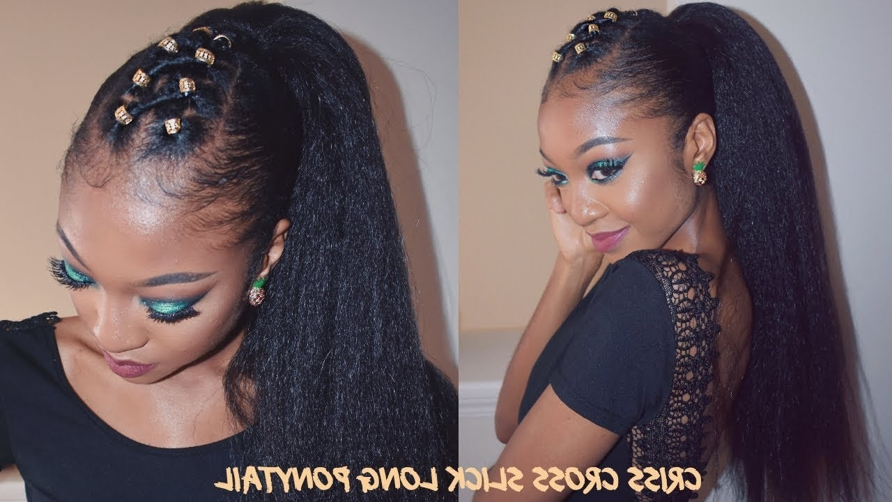 Criss Cross Slick Ponytail On Thick Natural Hair (View 9 of 20)