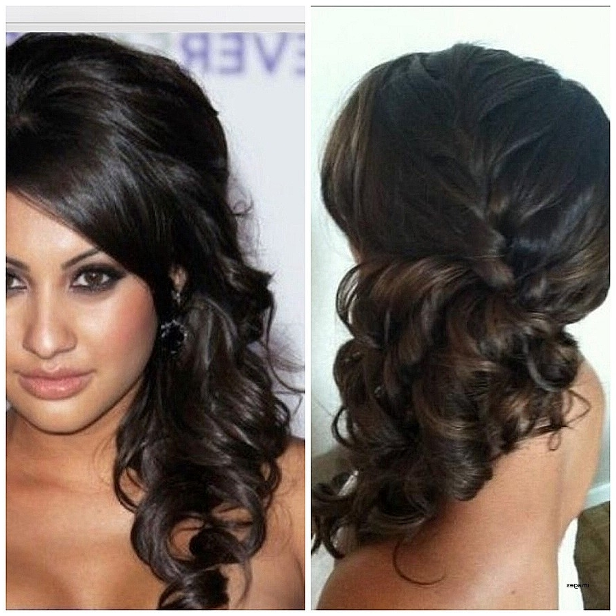 Curly Hairstyles: Awesome Side Pony Curly Hairstyl ~ Shippysoft Pertaining To Trendy Side Ponytail Hairstyles With Braid (View 3 of 20)