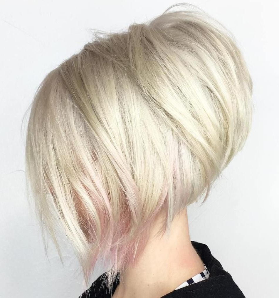 Current Asymmetry Blonde Bob Hairstyles Enhanced By Color Pertaining To 40 Chic Angled Bob Haircuts (View 10 of 20)