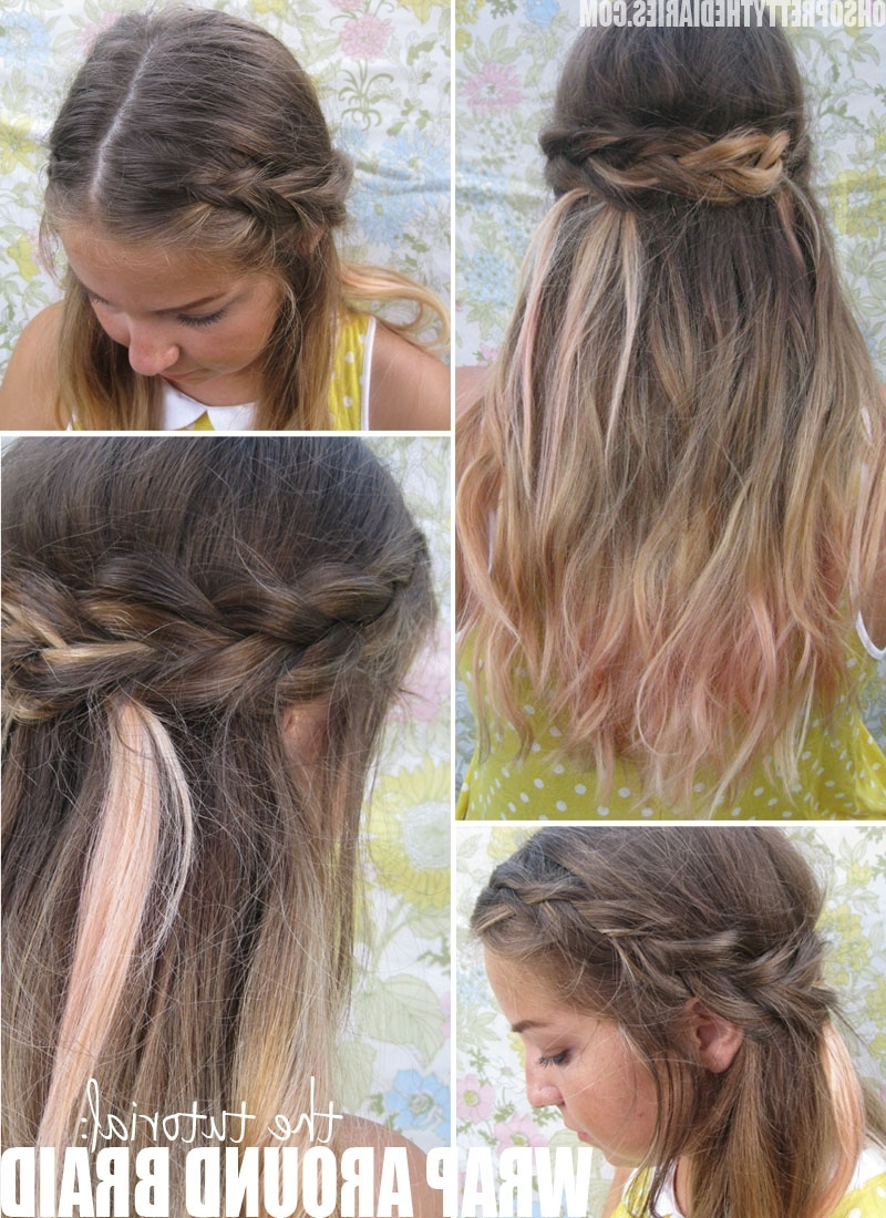Current Braided Along The Way Hairstyles With 15 Casual & Simple Hairstyles That Are Half Up, Half Down (View 9 of 20)