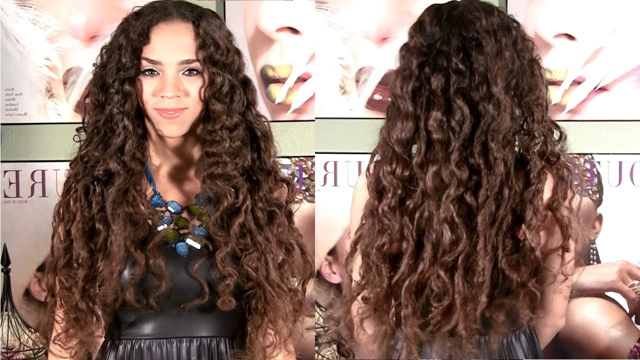 Current Braids With Curls Hairstyles With Regard To No Heat Curls – Curls Without Heat Hair Tutorial – No Braids Or (View 8 of 20)