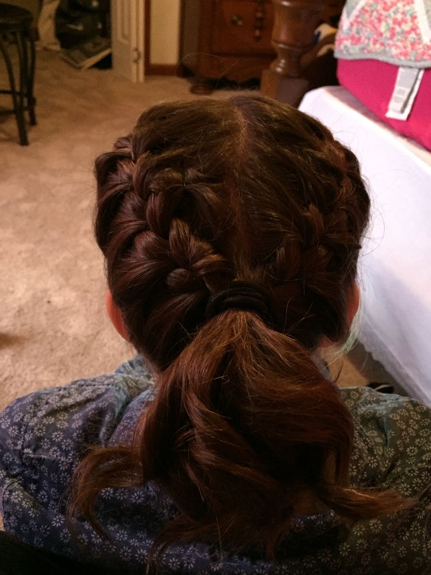 Current Entwining Braided Ponytail Hairstyles In French Braid And Curls! :) Directions:  (View 6 of 20)