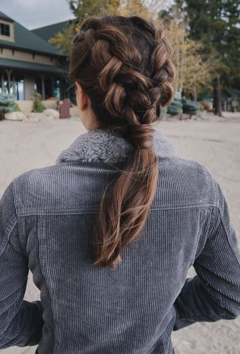 Current Low Hanging Ponytail Hairstyles With Regard To Double French Braids Into Low Ponytail (View 15 of 20)