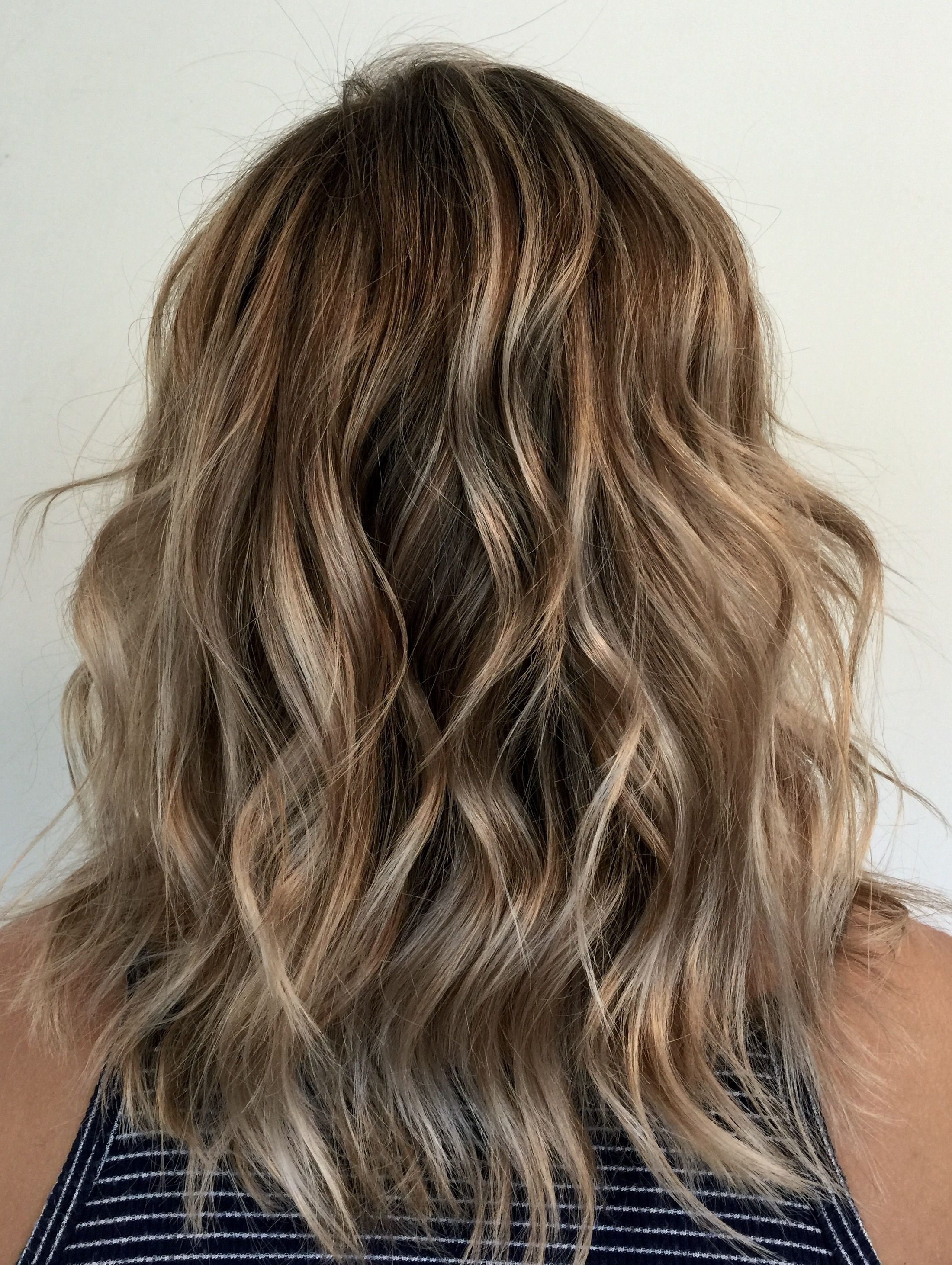 Current Messy Blonde Lob With Lowlights Regarding Dirty Blonde (View 5 of 20)