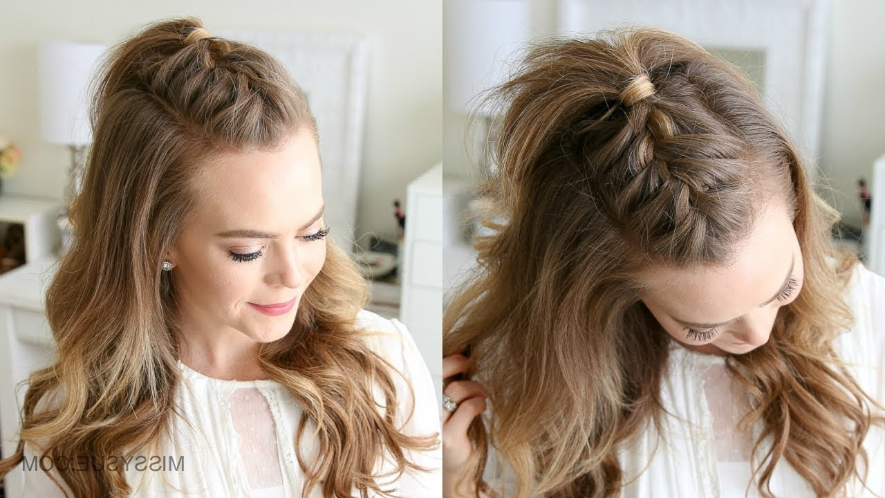 Current Mohawk Braid Into Pony Hairstyles Regarding French Mohawk Braid (View 5 of 20)