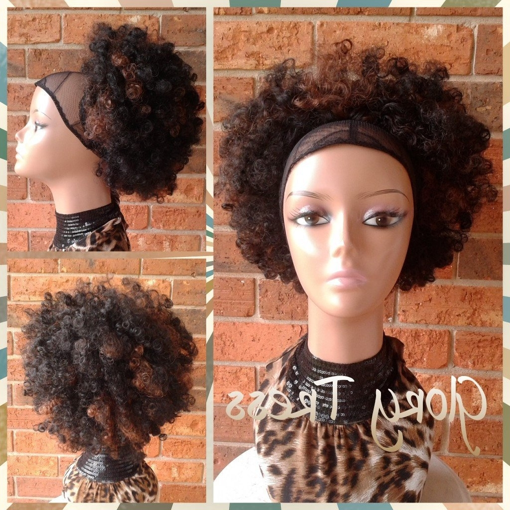 Current Ombre Curly Ponytail Hairstyles Within On Sale // Kinky Curly Afro Drawstring Ponytail Ombre (View 4 of 20)