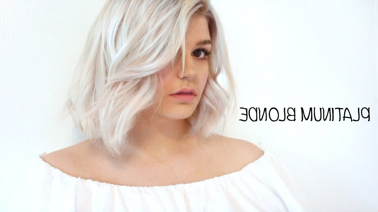 Current Platinum Blonde Bob Hairstyles With Exposed Roots Regarding How To Dye Your Hair Platinum Blonde + Shadow Root – Youtube (View 8 of 20)