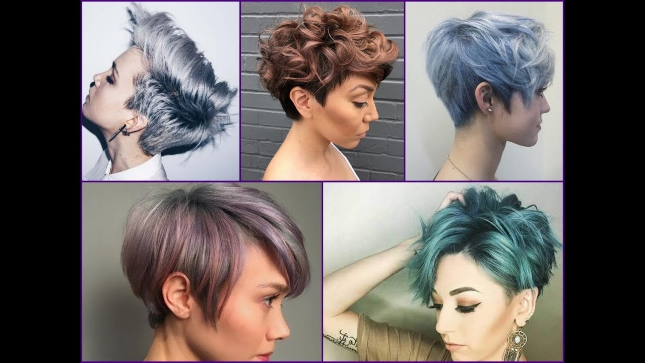 Current Silver And Brown Pixie Hairstyles Throughout 20+ Best Hair Color Ideas For Pixie Cut And Short Hair – Youtube (View 4 of 20)