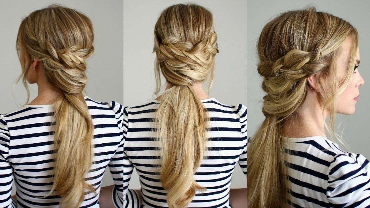 Current The Criss Cross Ponytail Hairstyles Pertaining To Criss Cross Ponytail Hairstyle With 1701x1231 Resolution (View 9 of 20)