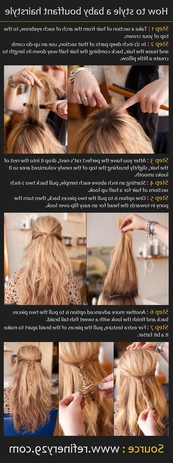 Cute Diy Hairstyles For School: Bouffant Hairstyle – Popular Haircuts Within Trendy Bouffant And Braid Ponytail Hairstyles (View 7 of 20)