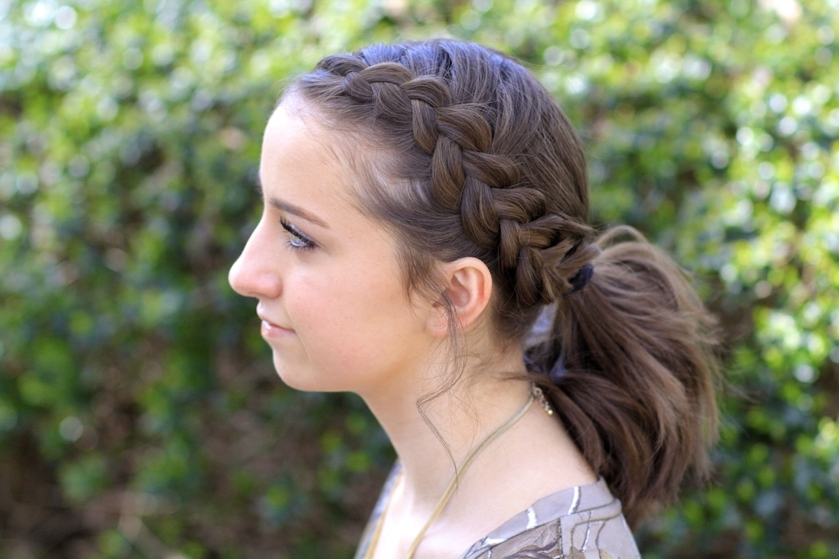 Cute Girls Hairstyles Regarding Famous Side Braided Ponytail Hairstyles (View 6 of 20)