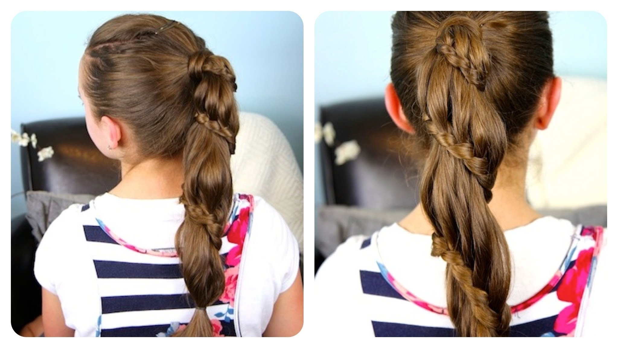 Cute Girls Hairstyles – Youtube Pertaining To 2017 Entwining Braided Ponytail Hairstyles (View 7 of 20)
