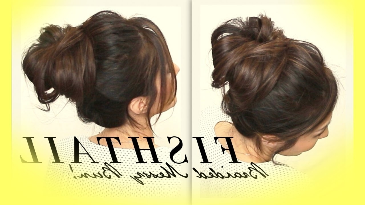 Cute Hairstyles For For Most Recently Released Pretty Messy Pony Hairstyles With Braided Section (View 15 of 20)