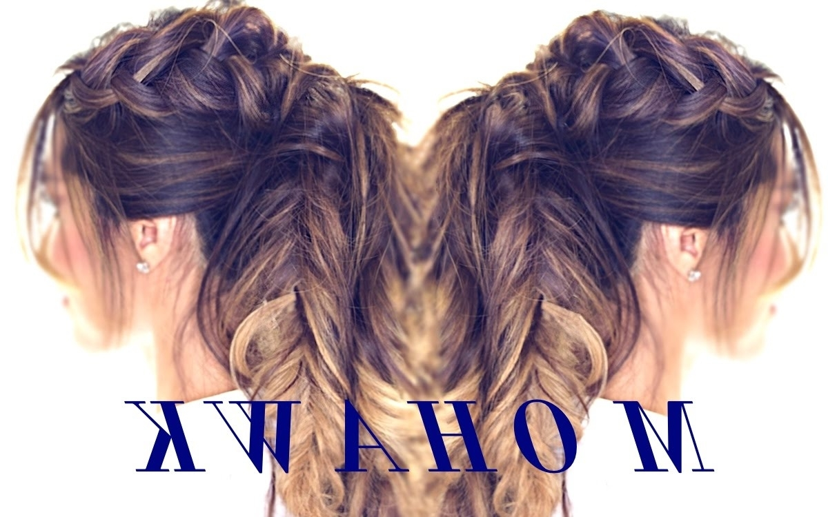 Cute Hairstyles For Medium Long Hair Within Preferred Large And Loose Braid Hairstyles With A High Pony (View 5 of 20)