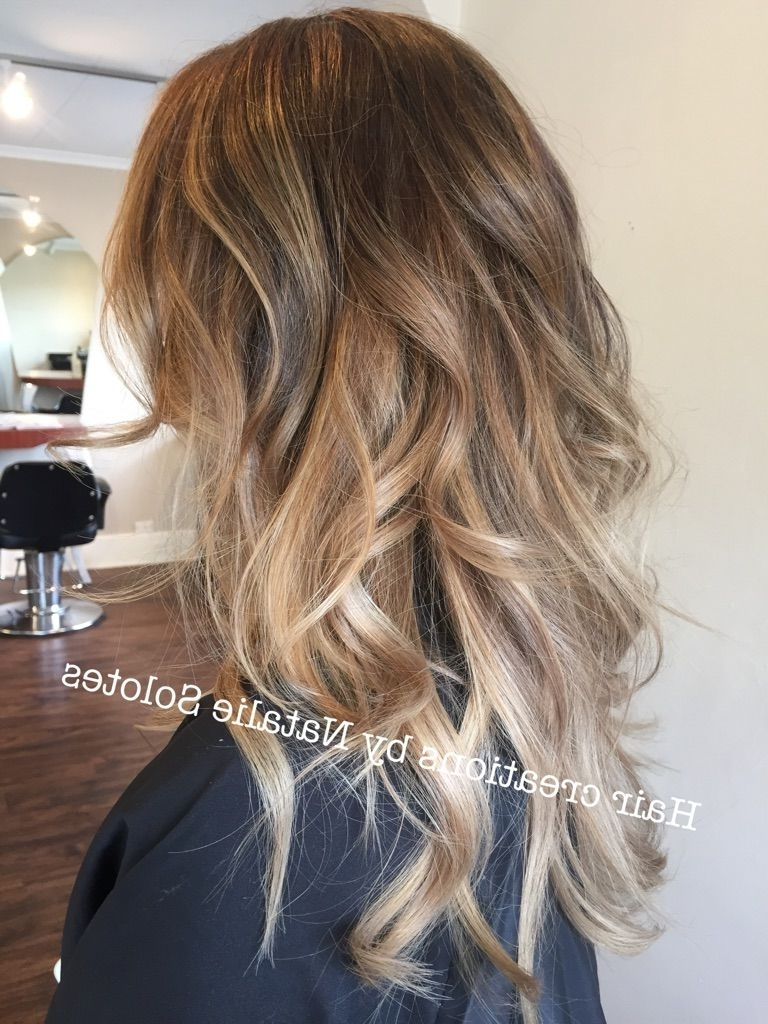 Dark Blonde Dark Ecaille Balayage Haircolor Tortoiseshell Haircolor Pertaining To Latest Tortoiseshell Curls Blonde Hairstyles (Gallery 1 of 20)