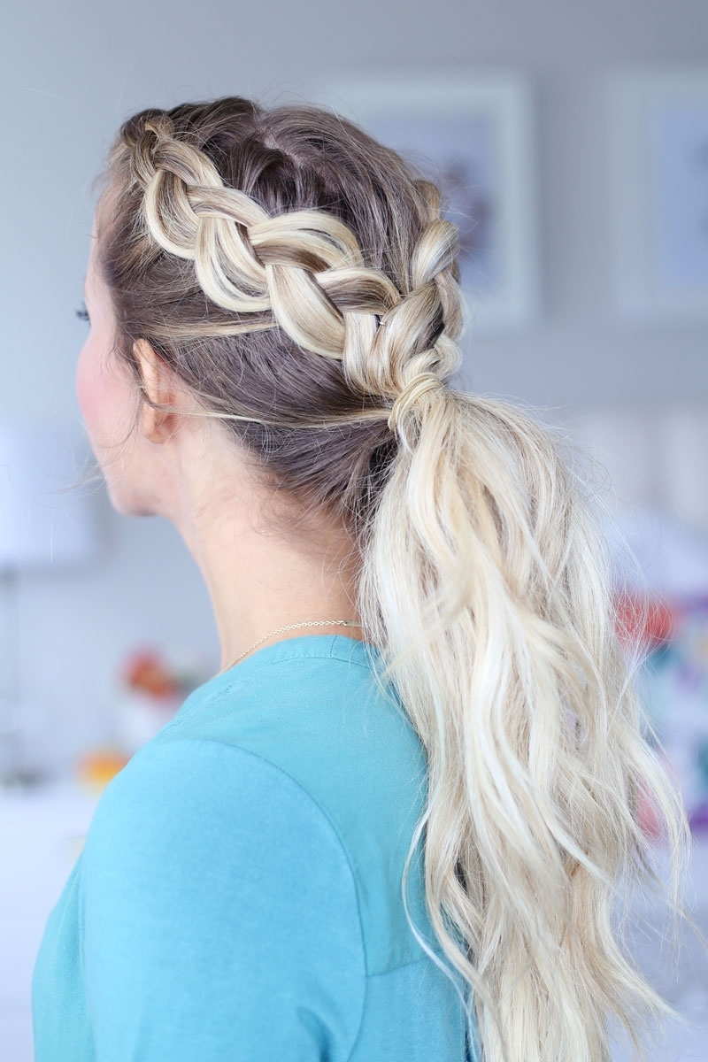 Day To Night Dutch Braid Hairstyles + 2 Ways To Wear Them! Intended For Best And Newest Ponytail Hairstyles With Dutch Braid (View 5 of 20)