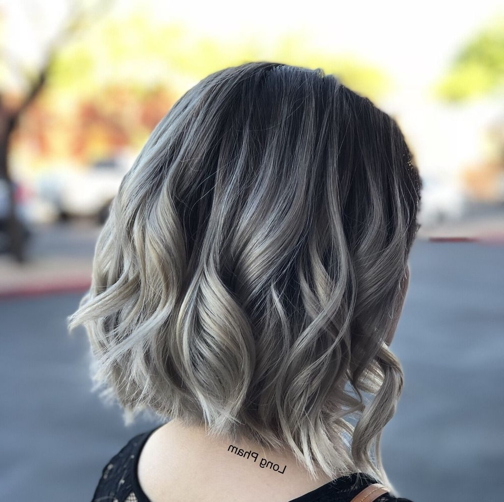 Dimensional Ashy Blonde Color Melting With Long Bob Haircut. Hair Regarding Most Recent Blonde Color Melt Hairstyles (Gallery 15 of 20)