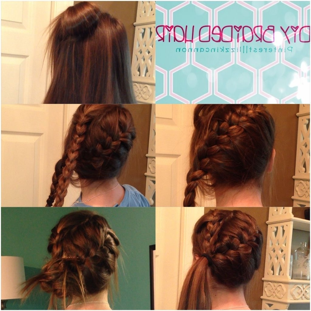 Diy Braided Hair. 1) Part Your Hair Into Two Sections 2) French Throughout Fashionable Pretty Messy Pony Hairstyles With Braided Section (Gallery 7 of 20)