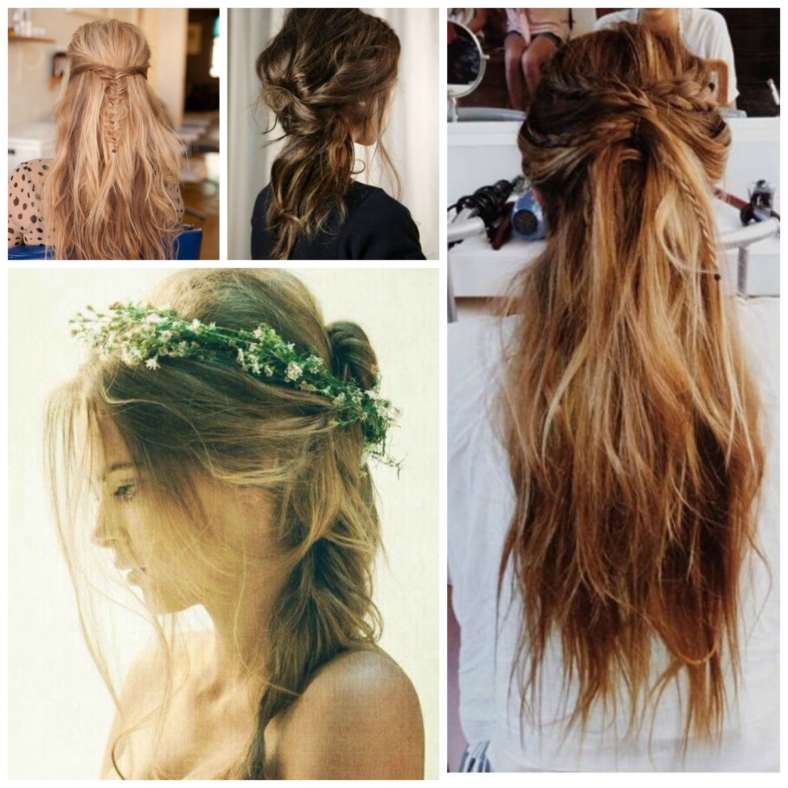 Diy Perfect Summer Boho Hairstyles – High Style Life With Regard To Latest Messy Half Ponytail Hairstyles (Gallery 18 of 20)