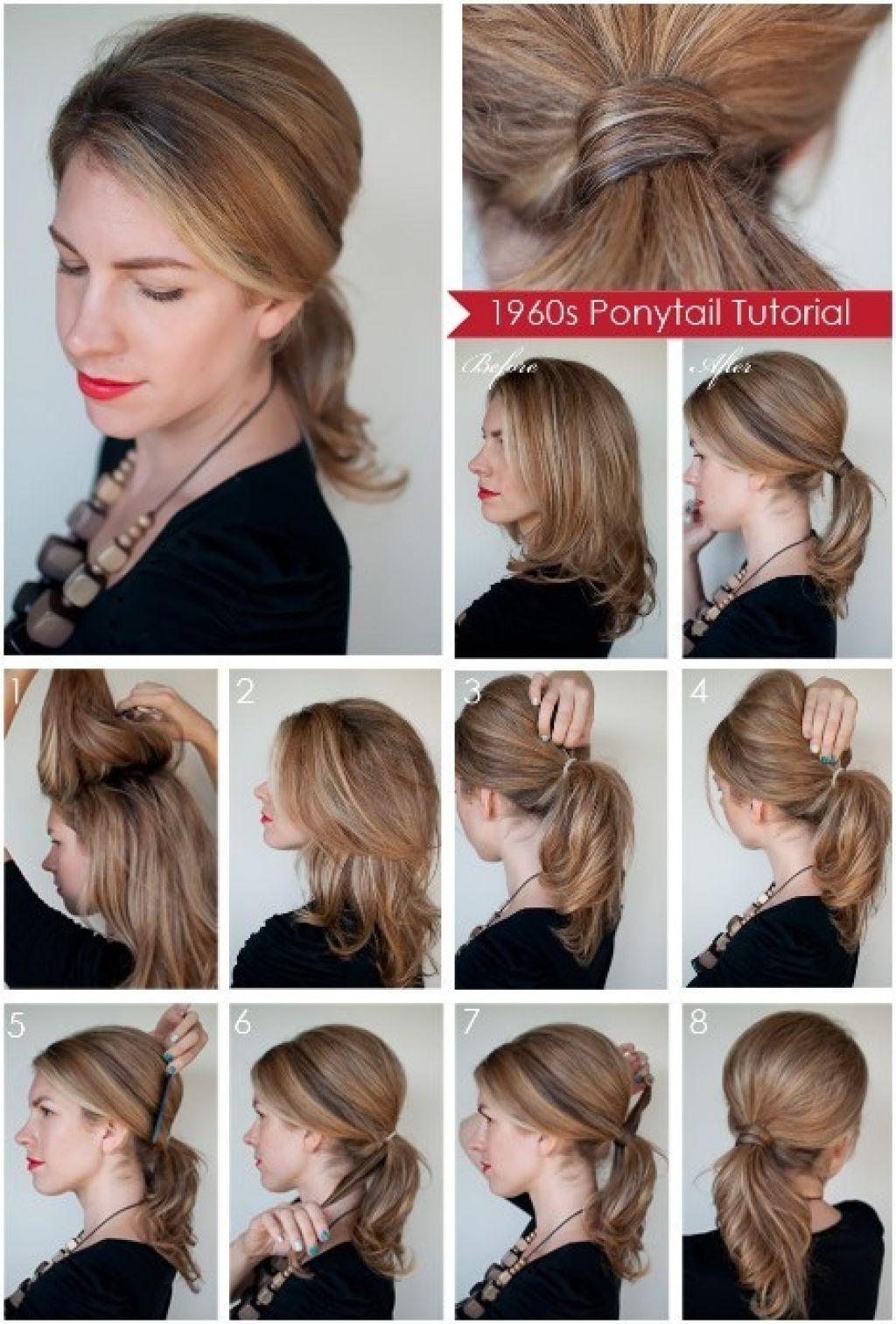 Diy Ponytail Hairstyles For Medium Long Hair Within Most Current Ponytail Hairstyles For Layered Hair (View 6 of 20)
