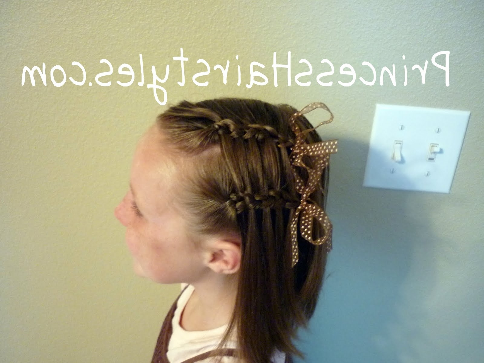 Double Faux Waterfall French Braid – Hairstyles For Girls – Princess Pertaining To Famous Double Floating Braid Hairstyles (View 8 of 20)