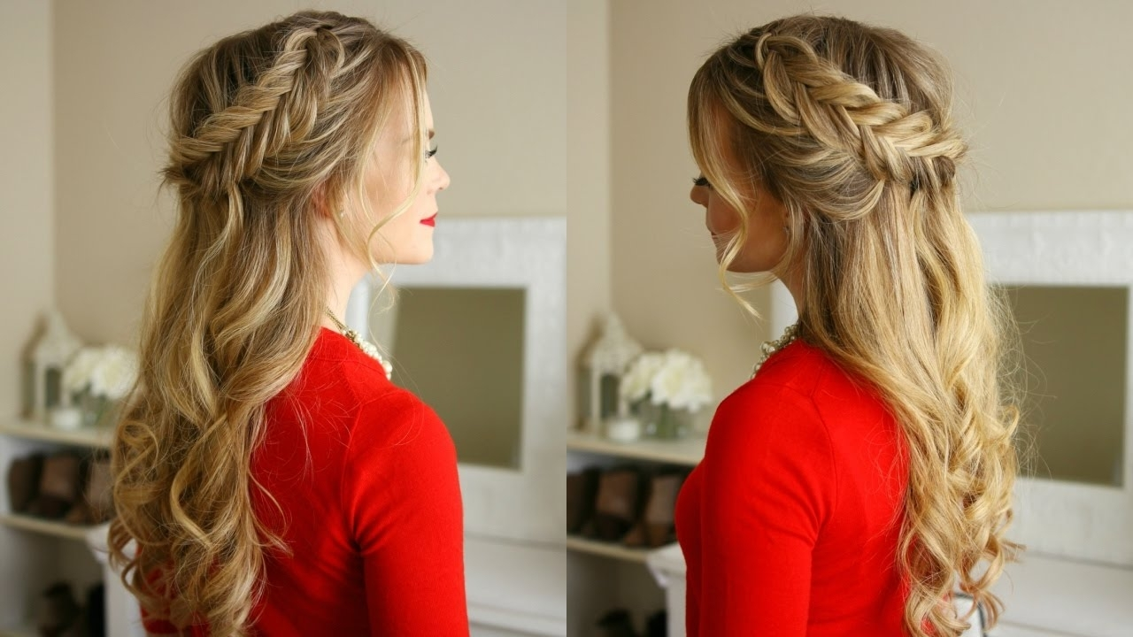 Dutch Fishtail Braids Holiday Hairstyle (Gallery 7 of 20)
