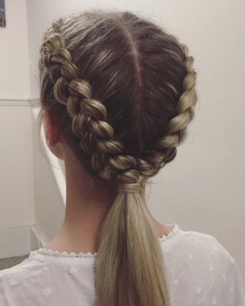 Dutch Plait, Plaits In Trendy Dutch Inspired Pony Hairstyles (View 8 of 20)