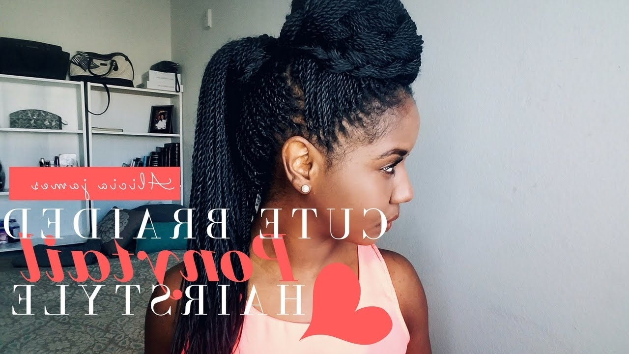 Featured Photo of Cornrows And Senegalese Twists Ponytail Hairstyles