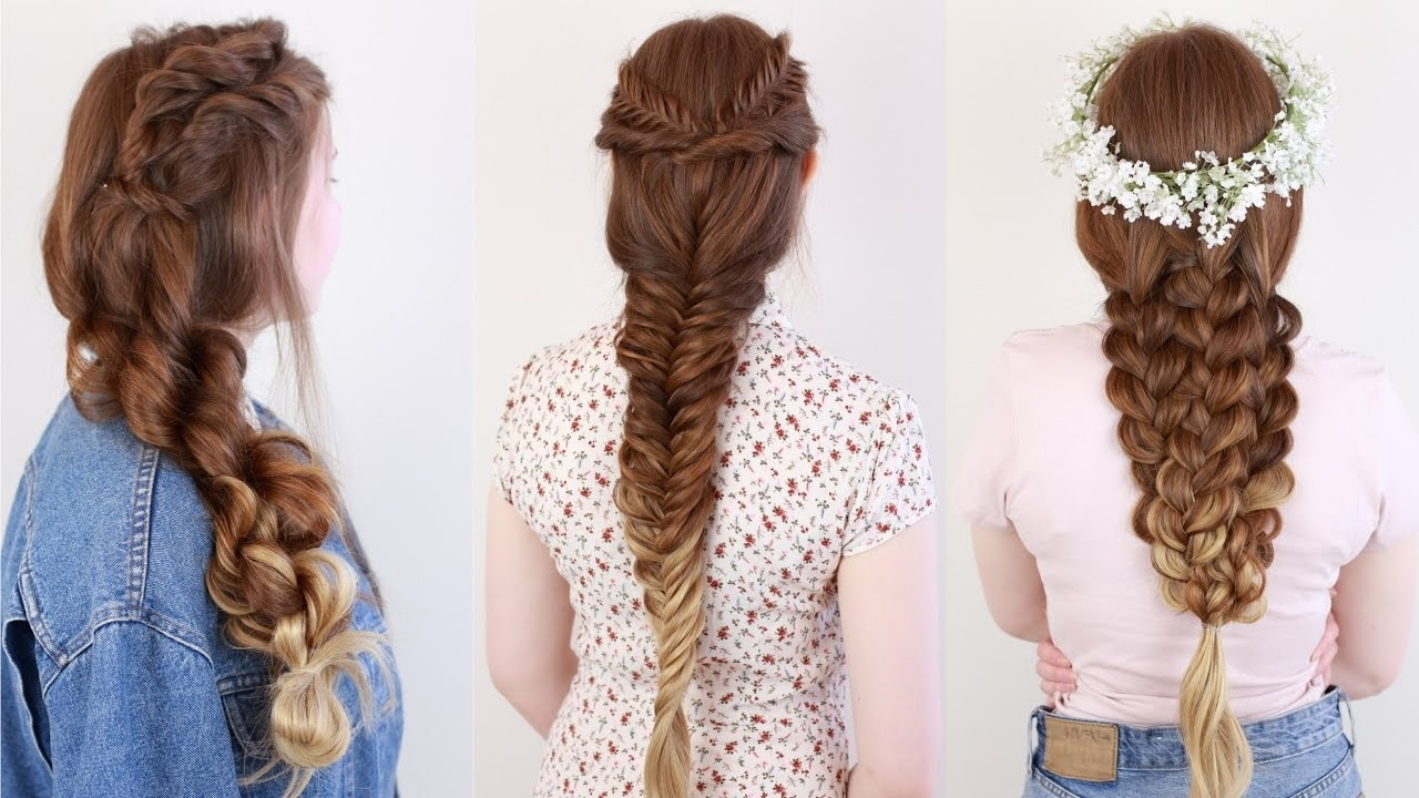 Easy Boho Braids – Youtube In Most Up To Date Braided Boho Locks Pony Hairstyles (View 8 of 20)