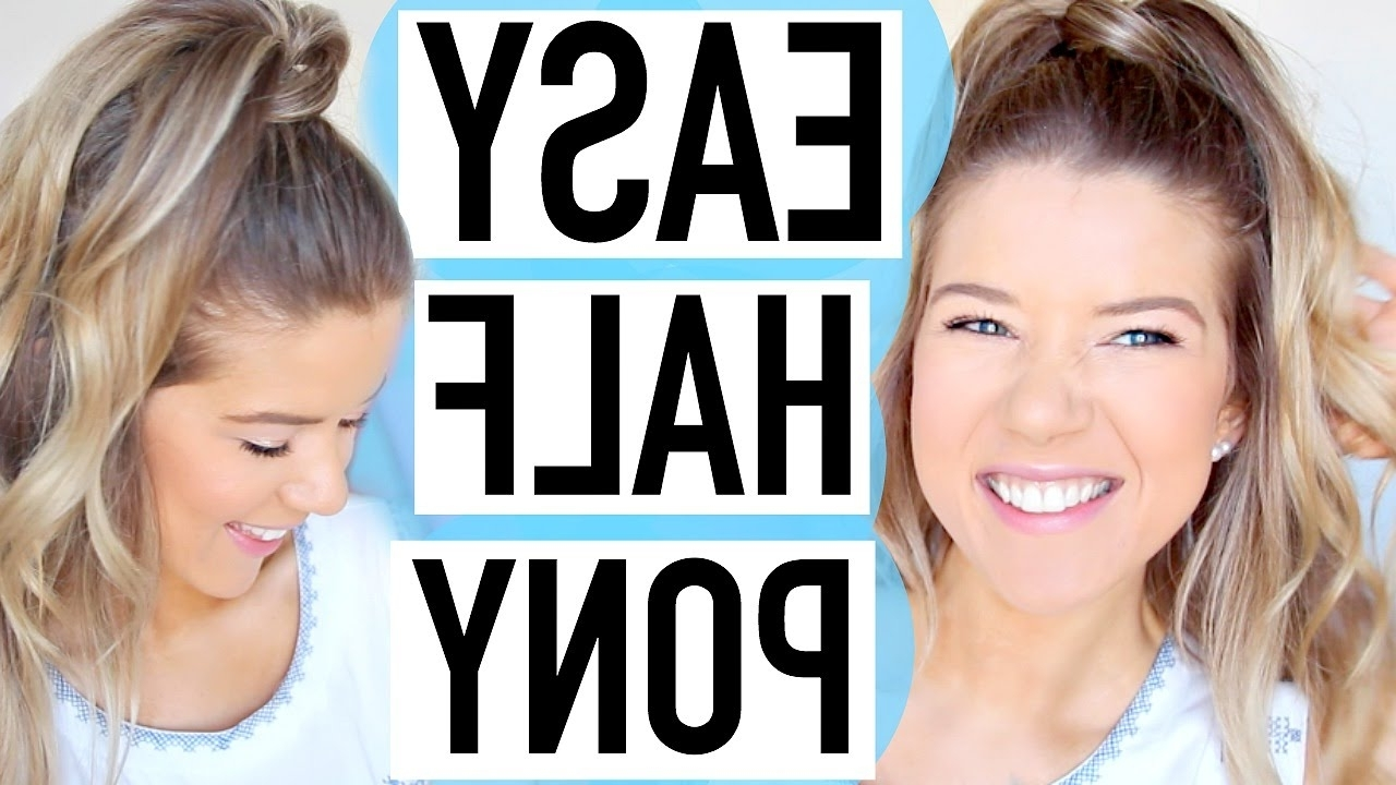 Easy Spring Hairstyle: Half Up Ponytail – Youtube For Well Liked Half Up Curly Do Ponytail Hairstyles (Gallery 17 of 20)