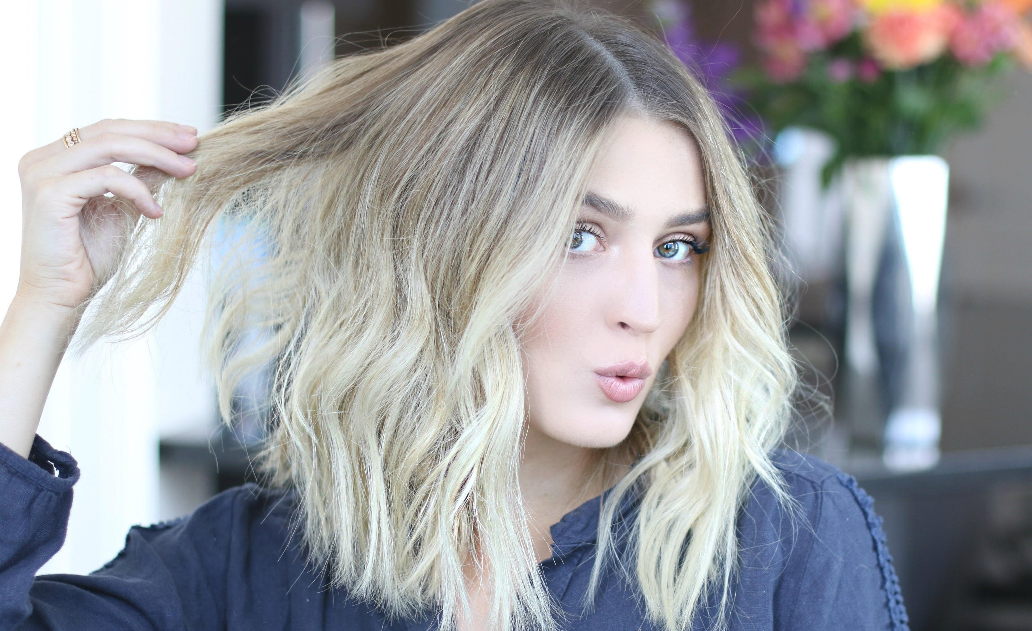 Easy Voluminous & Tousled Waves – Youtube For Famous Tousled Shoulder Length Waves Blonde Hairstyles (Gallery 4 of 20)