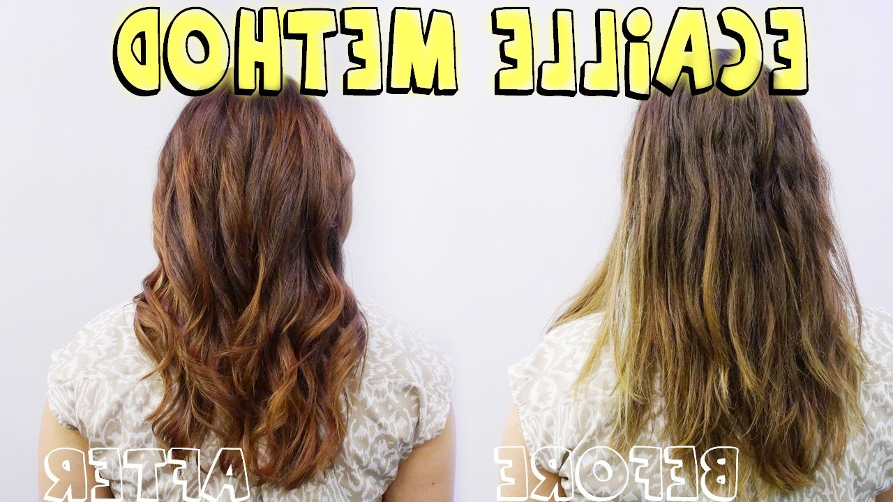 Ecaille Method And Color Correction (Tortoise Shell Hair) – Youtube Throughout Trendy Tortoiseshell Curls Blonde Hairstyles (View 12 of 20)