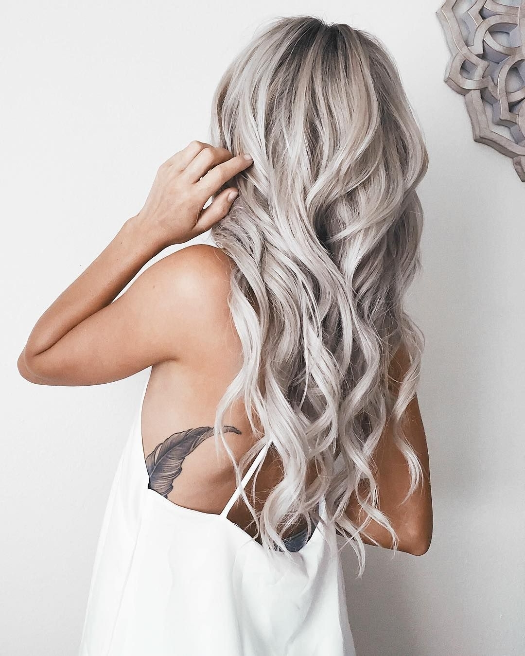 Emily Rose Shannon Is Slaying The Hair Game With Her Long Silver In 2017 Silver Blonde Straight Hairstyles (View 20 of 20)