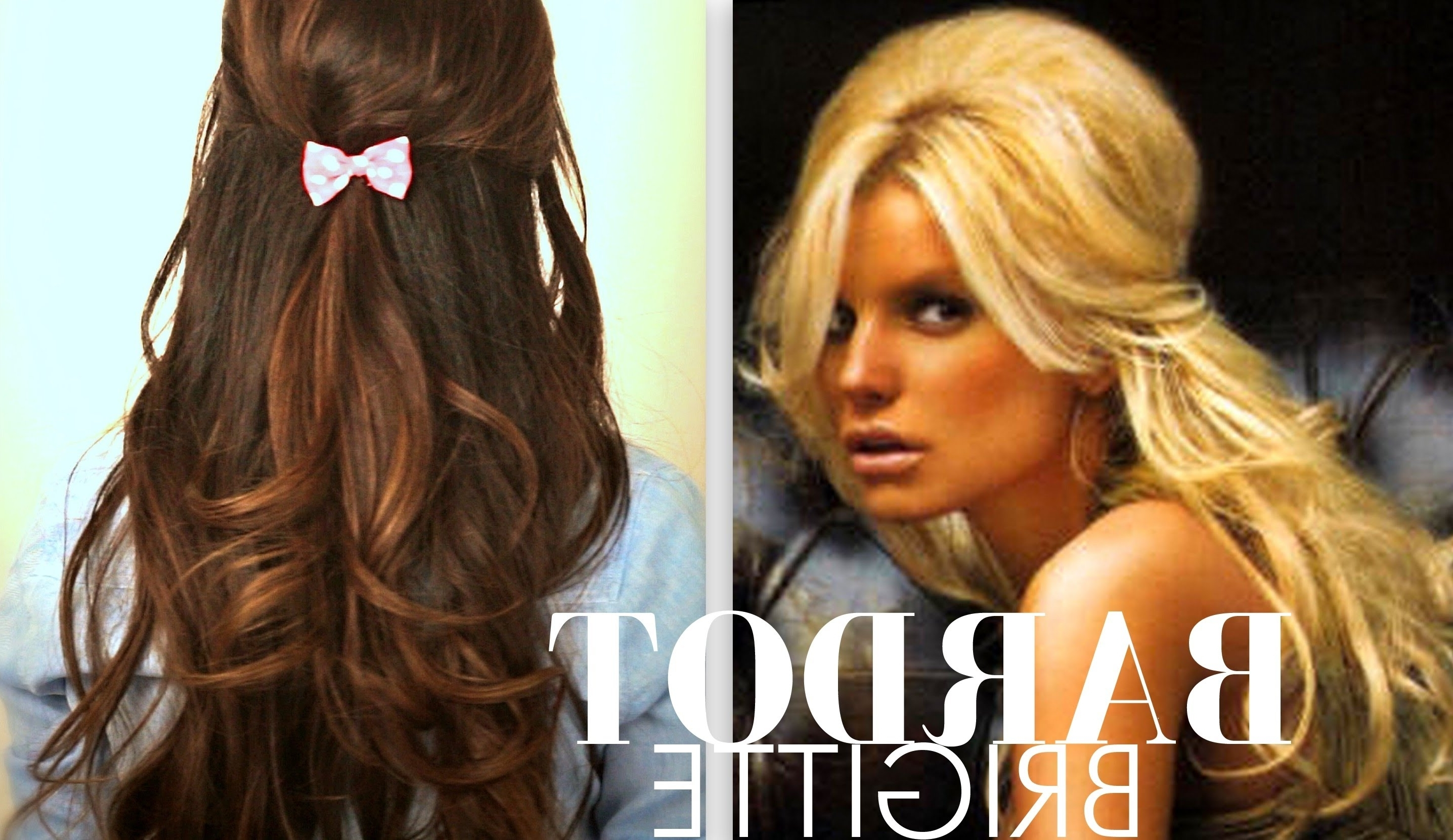Everyday Half Up Half Down In Well Known Bardot Pony Hairstyles (View 7 of 20)
