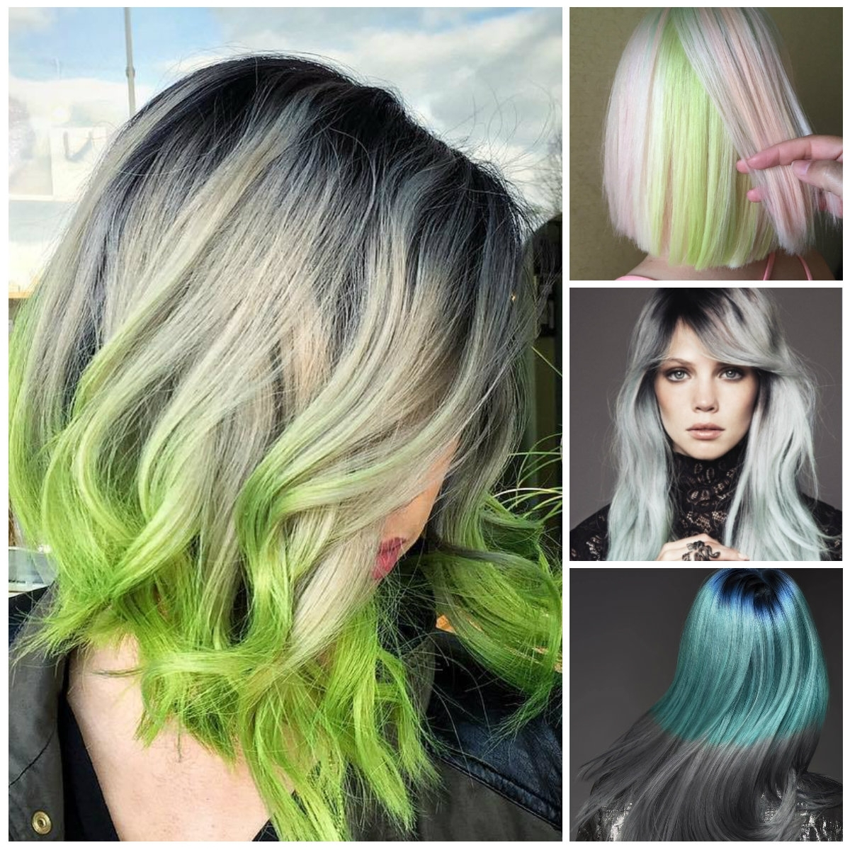 Famous Blonde Hairstyles With Green Highlights Throughout Black Hair With Platinum Blonde Highlights Hair Highlights (View 7 of 20)