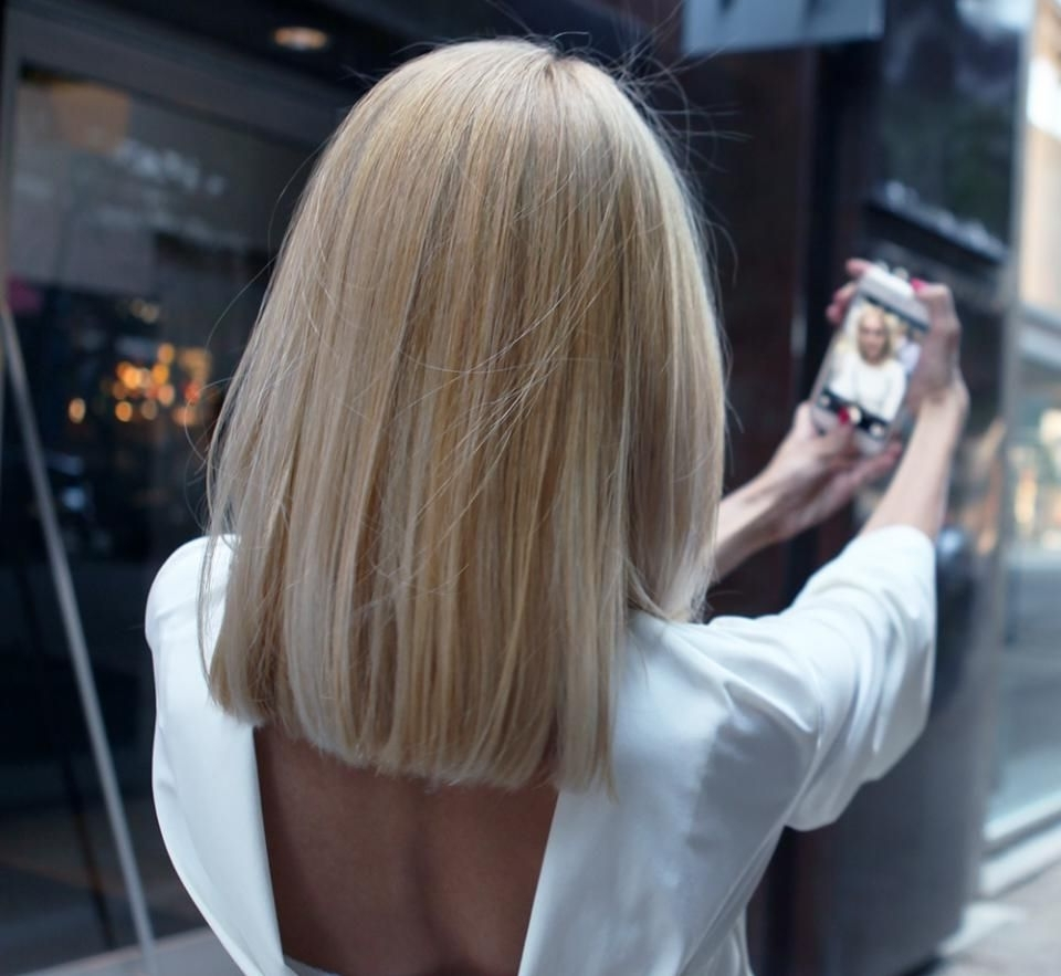 Famous Blunt Cut White Gold Lob Blonde Hairstyles Regarding How To: Grown Out Ombre Transformed Into An Edgy, Blonde Lob – Hair (View 12 of 20)