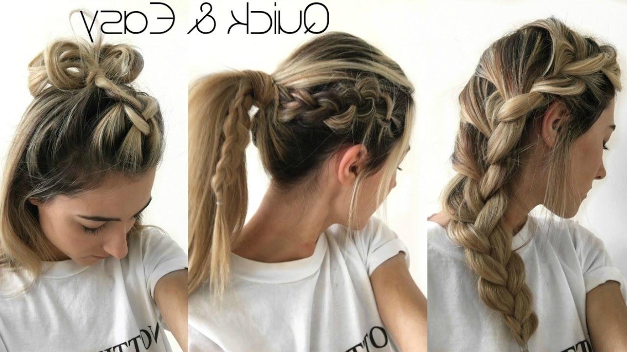 Famous Braided Boho Locks Pony Hairstyles Regarding 3 Easy Boho Braid Hairstyles – Youtube (View 5 of 20)