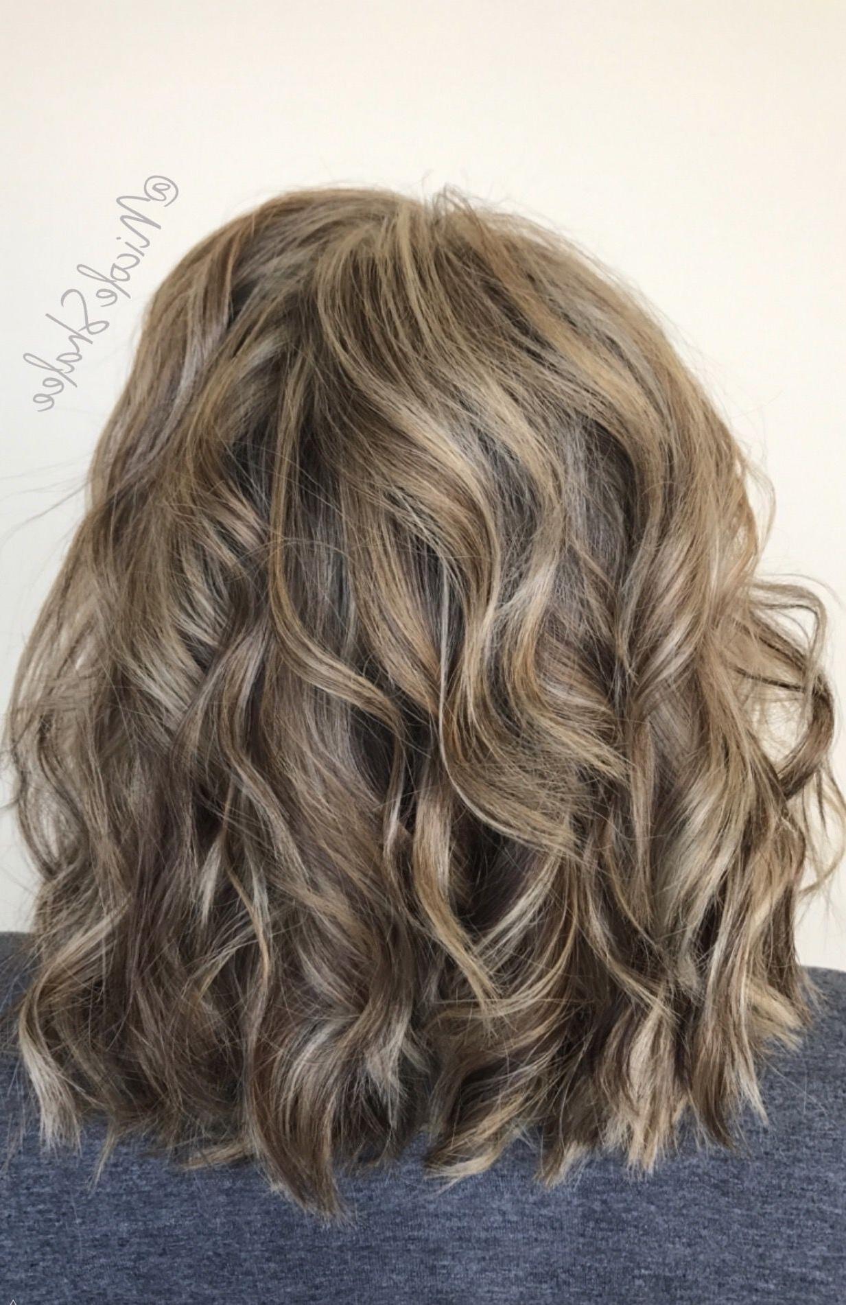 Famous Bronde Beach Waves Blonde Hairstyles Throughout Lob, Long Bob, Beach Waves, Bronde Hair, Sandy Brown Hair, Sandy (View 8 of 20)