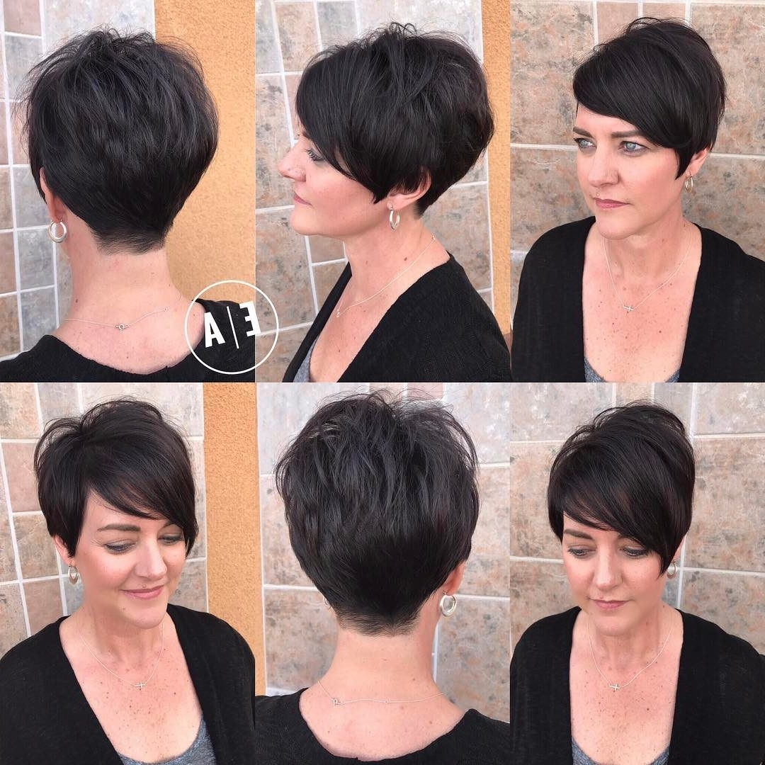 Famous Choppy Asymmetrical Black Pixie Hairstyles Regarding 40 Hottest Short Hairstyles, Short Haircuts 2018 – Bobs, Pixie, Cool (View 7 of 20)