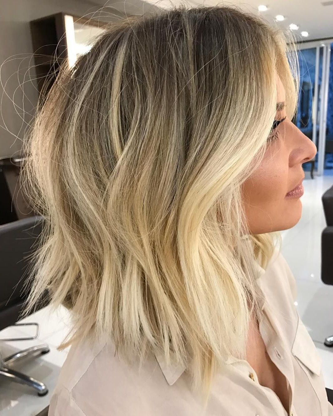 Famous Dark And Light Contrasting Blonde Lob Hairstyles For 40 Banging Blonde Bob And Blonde Lob Hairstyles In  (View 9 of 20)