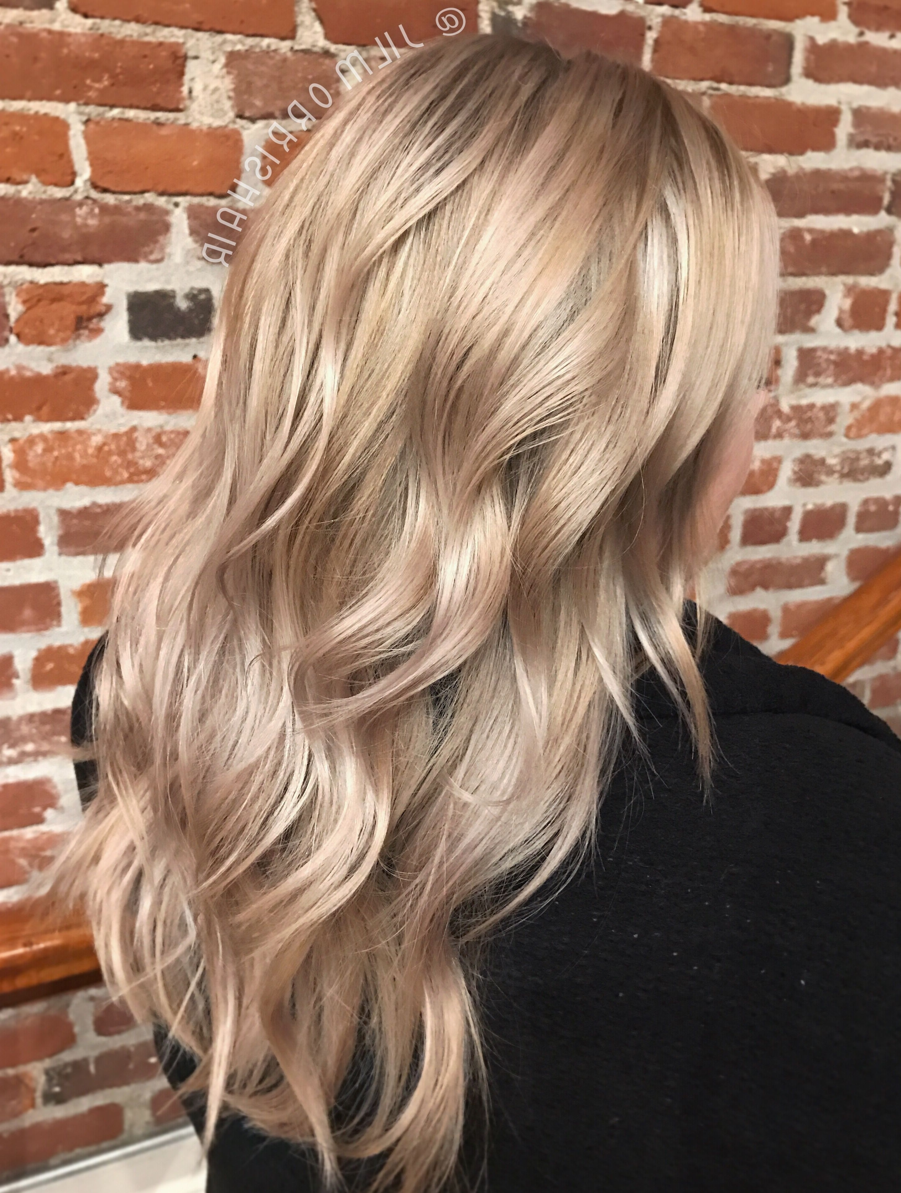 Famous Dishwater Waves Blonde Hairstyles Pertaining To Cool Beige Blonde Highlights Beautiful, Soft And Natural Balayage (View 11 of 20)