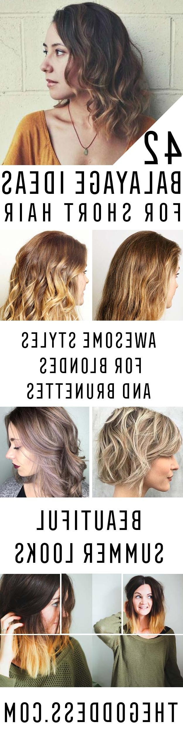 Famous Feathered Pixie With Balayage Highlights For 42 Balayage Ideas For Short Hair – The Goddess (View 9 of 20)