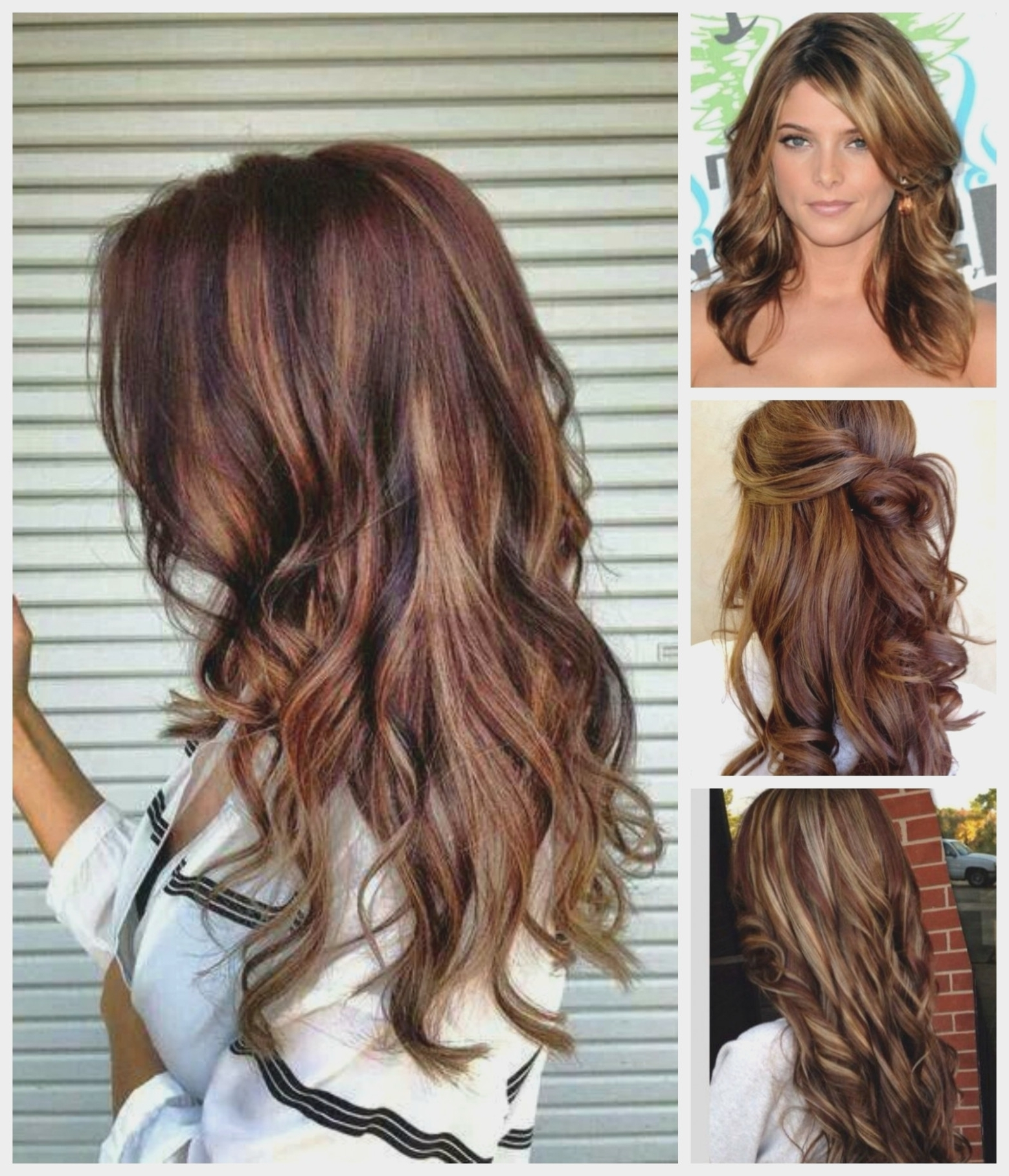 Famous Light Brown Hairstyles With Blonde Highlights Pertaining To Light Brown Hair With Red And Blonde Highlights – Women Medium (View 8 of 20)