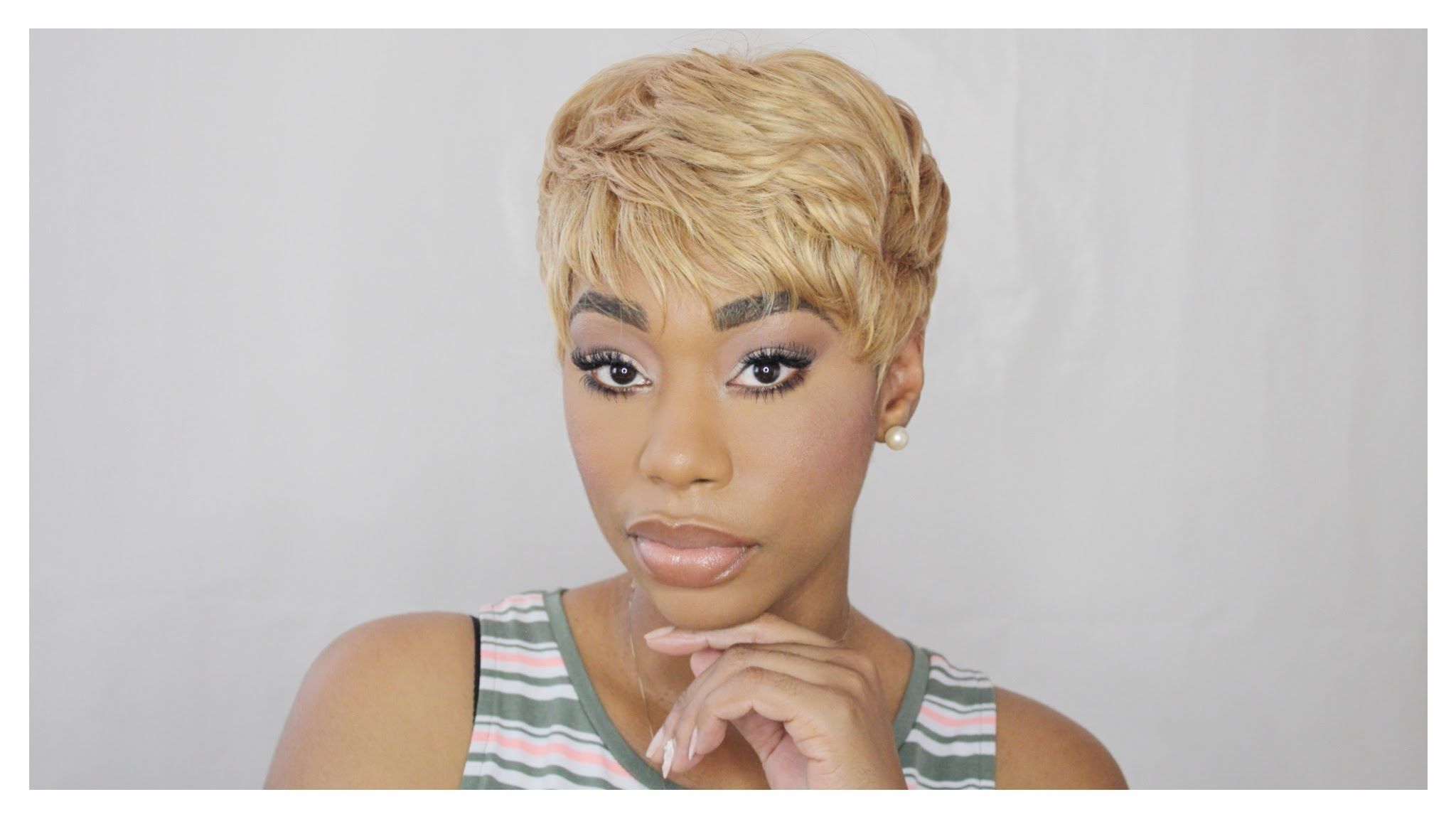 Famous Long Honey Blonde And Black Pixie Hairstyles Within Quick Weave: Blonde Pixie Hair Tutorial (View 5 of 20)