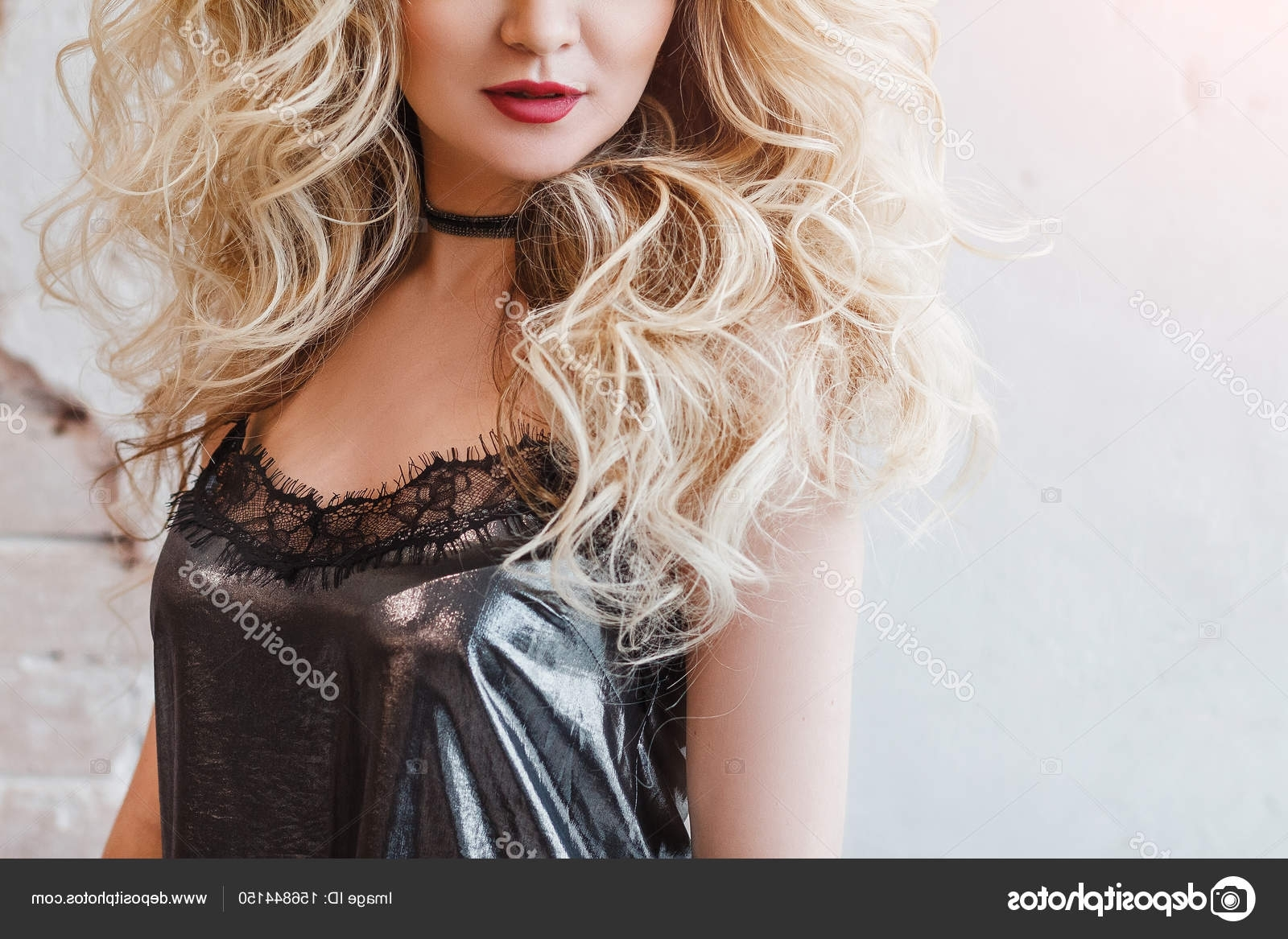 Famous Lush And Curly Blonde Hairstyles With Portrait Of A Blonde Woman With A Charming Extremely Lush Hairdo (View 5 of 20)