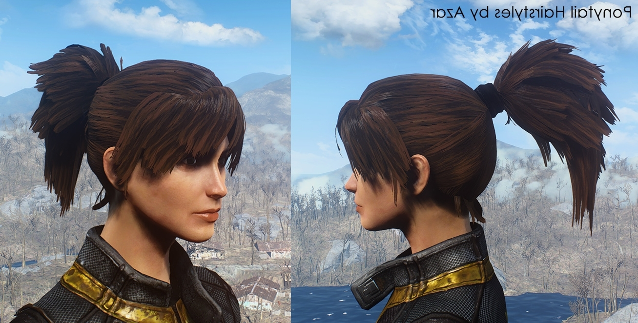 Famous Mod Ponytail Hairstyles With Ponytail Hairstylesazar Fo4 Mod Download (View 6 of 20)