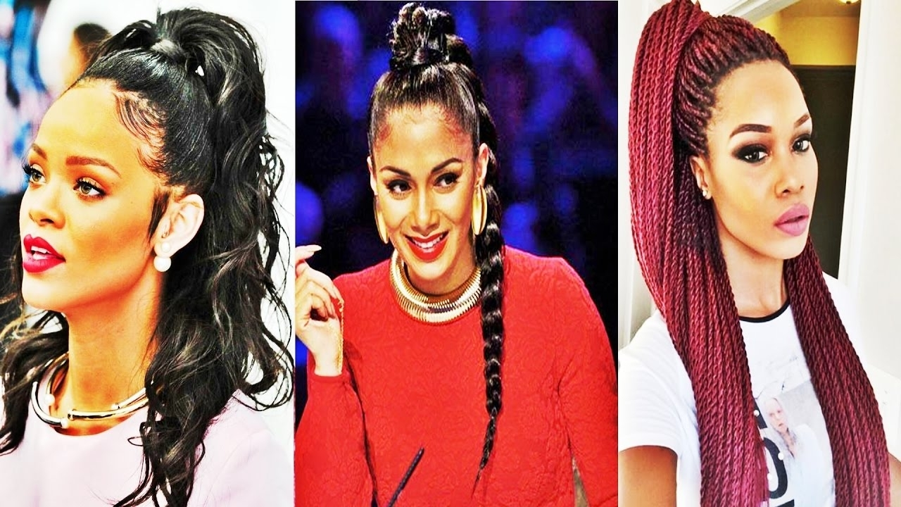 Famous On Top Ponytail Hairstyles For African American Women Pertaining To Latest Cool Ponytail Hairstyles For African American Women – Youtube (View 9 of 20)
