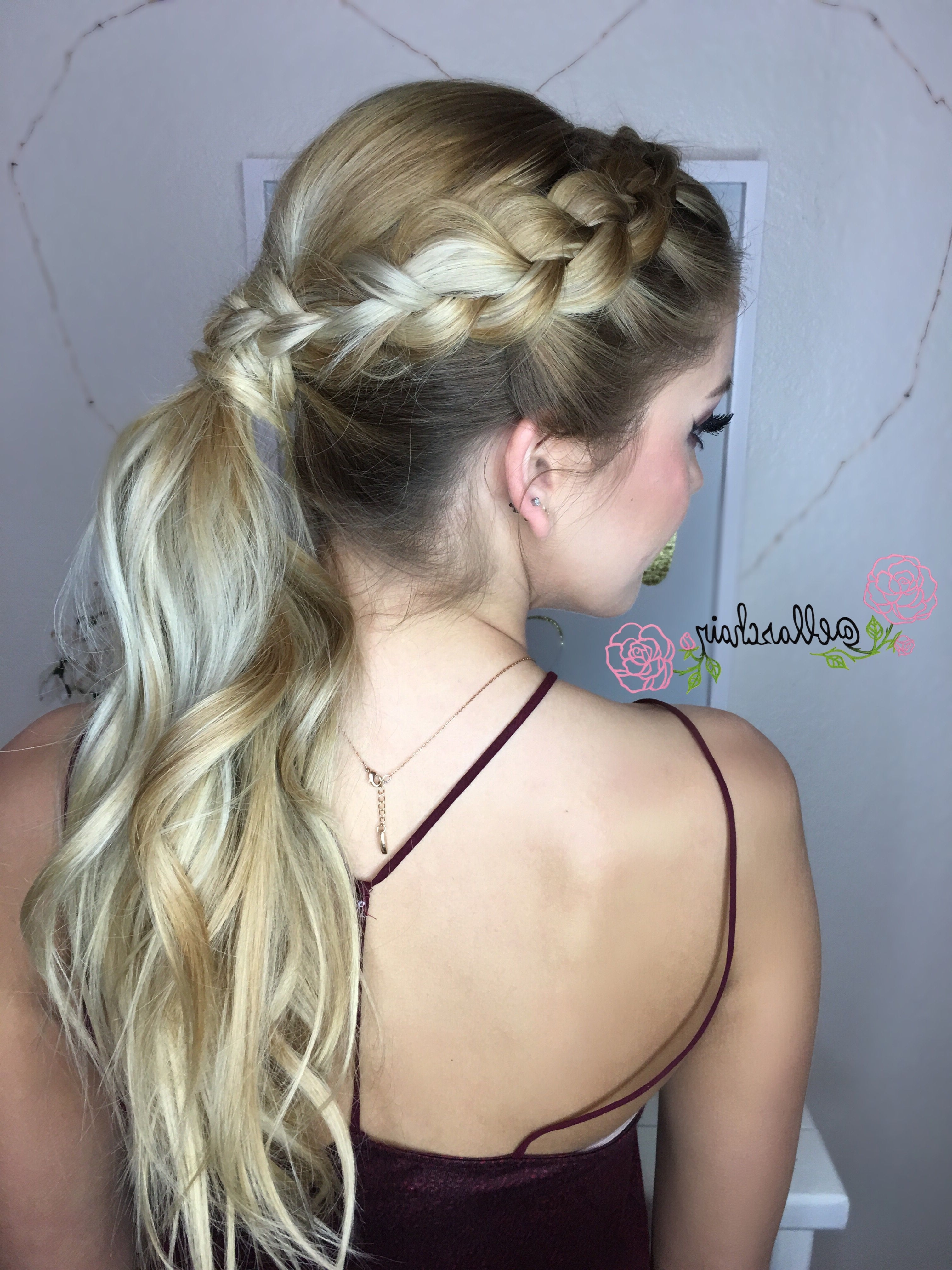 Famous Ponytail Hairstyles With Dutch Braid With Pinellaschair On Hair (View 7 of 20)