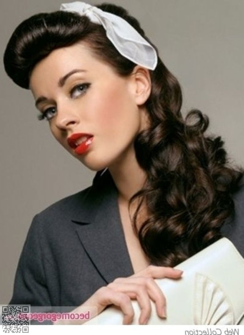 Famous Retro Glam Ponytail Hairstyles For  (View 7 of 20)